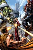 Avengers 9 Cover: Hulk  Thor  Star Brand  Hyperion