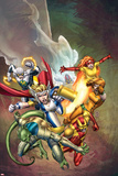 Fear Itself: Youth in Revolt No1 Cover: Girl  Ultragirl  Gravity  Firestar  Komodo  and Hardball