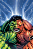 Hulk No30 Cover: Hulk and Rulk Screaming