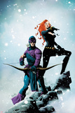 Widowmaker No1 Cover: Hawkeye and Black Widow Posing