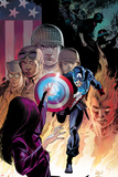 Captain America: Forever Allies No2 Cover: Captain America Running