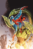 Heroes For Hire No8 Cover: Spider-man and Scorpion Fighting