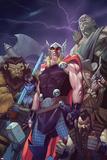 Thor: God of Thunder 15 Cover: Thor  Lady Waziria  Oggy  Ud  Ivory Honeyshot  Screwbeard