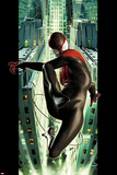 Ultimate Spider-Man No2 Cover: Spider-Man Swinging
