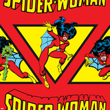 Marvel Comics Retro Pattern Design Featuring Spider Woman