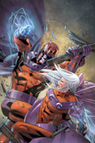 Magneto: Not A Hero No4 Cover: Magneto Fighting