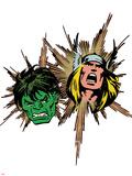 Marvel Comics Retro Badge Featuring Thor  Hulk