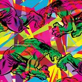 Marvel Comics Retro Pattern Design Featuring Hulk