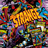 Marvel Comics Retro Pattern Design Featuring Dr Strange