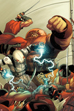 Thunderbolts No148 Cover: Ghost and Juggernaut Fighting