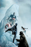 Age of Heroes No4 Cover: Black Panther and Captain America