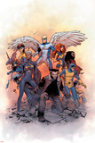 X-Men: Gold 1 Cover: Lockheed  Shadowcat  Storm  Angel  Grey  Jean  Bishop  Cyclops  Jubilee