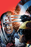 Avengers vs X-Men No3 Cover: Captain America Fighting Wolverine