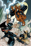 X-Men No7 Cover: Spider-Man  Cyclops  Wolverine  Storm  and Emma Frost