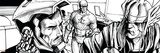 Avengers Assemble Inks Featuring Captain America  Tony Stark  Iron Man  Thor