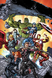 Avengers: Operation Hydra No 1 Cover  Featuring: Black Widow  Hawkeye  Iron Man  Captain America