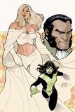 Uncanny X-Men No529 Cover: Emma Frost  Shadowcat  and Sebastian Shaw Posing
