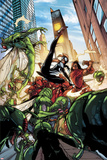 Spider-Island: The Amazing Spider-Girl No3: Spider-Girl Fighting and Kicking