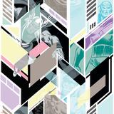 Marvel Comics Retro Pattern Design Featuring Hulk  Thor  Vision