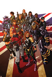 Revolutionary War: Alpha 1 Cover: Captain Britain  Angel  Killpower  Wisdom  Pete  Colonel Liger