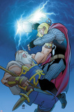 Thor No619 Cover: Thor and Odin Fighting