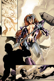 Fear Itself No2: Panels with Titania Standing with a Hammer
