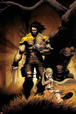 Astonishing X-Men: Xenogenesis No4 Cover: Wolverine and Emma Frost