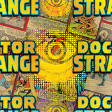 Marvel Comics Retro Pattern Design Featuring Dr Strange