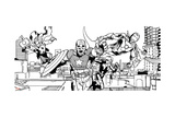 Avengers Assemble Inks Featuring Captain America  Thor  Iron Man  Black Widow  Falcon