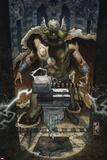 Thor: For Asgard No6 Cover: Thor Looking at Mjonir