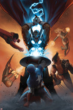 Annihilators: Earthfall No1 Cover: Captain America  Beta-Ray Bill  Wolverine and Others Fighting