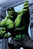Avengers Assemble Panel Featuring Hulk Reproduction d'art