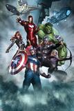 Avengers Assemble Artwork with Thor  Hulk  Iron Man  Captain America  Hawkeye  Black Widow  Loki