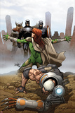 Cable and the X-Force 14 Cover: Thor  Havok  Captain America  Summers  Hope  Cable