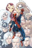 The Amazing Spider-Man No648 Cover: Spider-Man Swinging