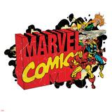 Marvel Comics Retro Badge Featuring Iron Fist  Thor  Iron Man
