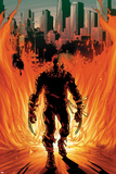 Daken: Dark Wolverine No21 Cover: Walking Flaming