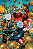 Age of Ultron 6 Cover: Red Hulk  Captain America  Ultron  Storm