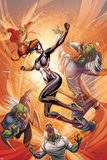 Spider-Island: The Amazing Spider-Girl No3 Cover: Spider-Girl Fighting and Jumping