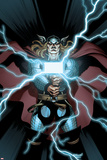 Astonishing Thor No2 Cover: Thor Holding Mjonir