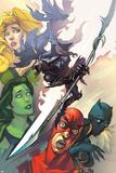 Infinity: the Hunt 1 Cover: She-Hulk  Ant-Man  Shuri  Black Panther  Meggan  Glaive  Corvus