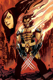Wolverine and Jubilee No3 Cover: Wolverine Flaming