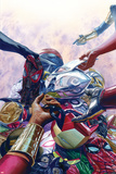 All-New  All-Different Avengers No 8 Cover Art Featuring: Nova  Thor (Female)  Falcon Cap and More