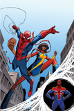 The Amazing Spider-Man No 7 Cover  Featuring: Spider-Man  Ms Marvel  Spider-UK