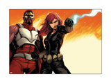 Avengers Assemble Panel Featuring Falcon  Black Widow