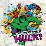 Marvel Comics Retro Pattern Design Featuring Hulk  Iron Man  Captain America