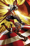 The Astonishing Ant-Man No3 Cover  Featuring Falcon Cap and Ant-Man