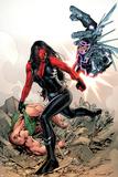 Red She-Hulk 59 Cover Featuring Red She-Hulk  Machine Man