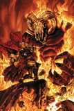Thor No613 Cover: Thor Fighting in Flames