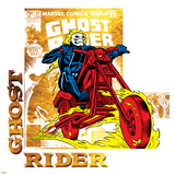 Marvel Comics Retro Badge Featuring Ghost Rider